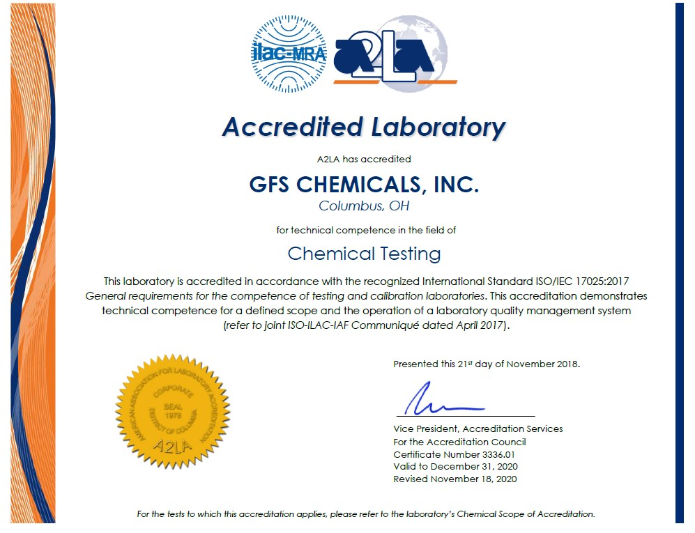 GFS Quality Management System Certification